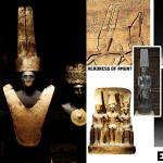 Egyptian headdress of Amun in Peru (royal burial)